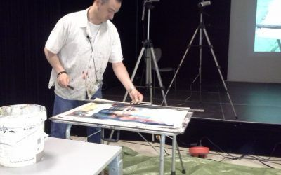 Watercolor demo in the Okendo Hall in Donostia